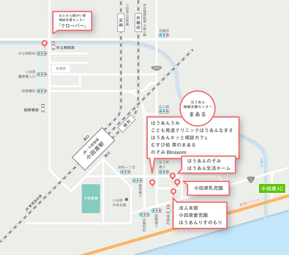 浜町・荻窪エリアのアクセスマップ