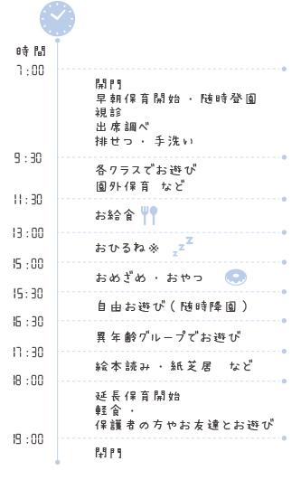 小田原愛児園1日の流れ